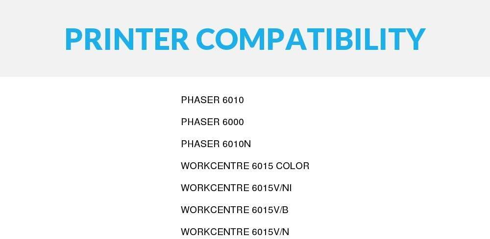 WorkCentre 6015V//N Phaser 6010 2 Pack Xerox Compatible 106R01630 Black Laser Toner Cartridge for Phaser 6000 Phaser 6010N WorkCentre 6015V//NI WorkCentre 6015 Speedy Inks WorkCentre 6015V//B