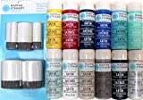 Martha Stewart Crafts Multi-Surface Satin & Pearl Acrylic Craft Paint Set, PROMO853 Nautical (12 Colors)