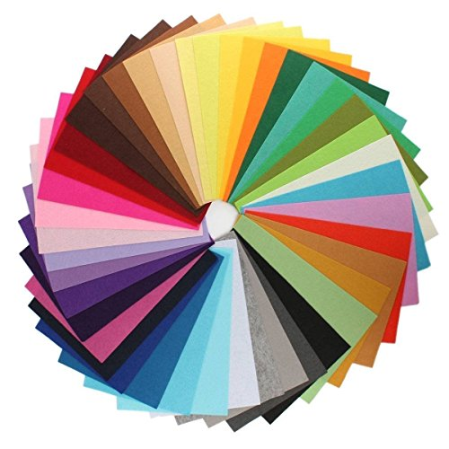 [longshine-us 49PCS 4 x 4 inches (10 x10cm) Assorted Color Felt Fabric Sheets Patchwork Sewing DIY Craft 1mm] (Board Game Halloween Costumes Diy)
