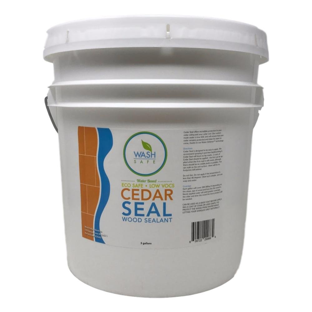Wash Safe Industries Cedar SEAL, Wood Waterproofing Sealer, 5 gal Bucket