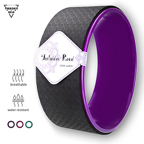 Forbidden Road Yoga Wheel Exercise Wheel Prop for Release Tight Chest and Shoulders Deepen Back bend Stretching and Improving Yoga Poses and Flexibility Balance and Core Strength (Purple)