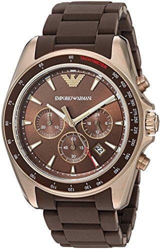 Emporio-Armani-Mens-AR6099-Sport-Brown-Silicone-Watch