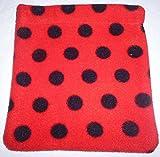 Ladybird Fleece Stirrup Iron Covers, Equestrian