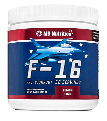 Strawberry Lemonade F-16 Pre Workout Supplement Powder for Energy and Endurance, 30 Servings, Includes Creatine/Beta Alanine, Workout Enhancer, 100% Money Back