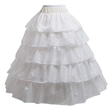 7495cc9424f20 BiBOSS Hoop Skirt for Women Petticoat Skirt Crinoline Underskirt for  Wedding Dress