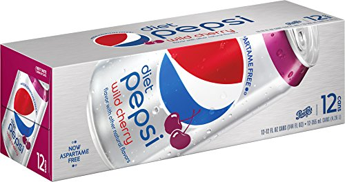 Pepsi Diet Wild Cherry Soda  12 Ounce  12 Cans