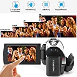 4K Camcorder,ACTITOP Video Camera 48MP UHD WiFi Digital Camcorder 16X Digital Zoom IR Night Vision 3 inch IPS Touch Screen Video Camcorder with Microphone,Wide Angle Lens,LED Light and Travel Bag