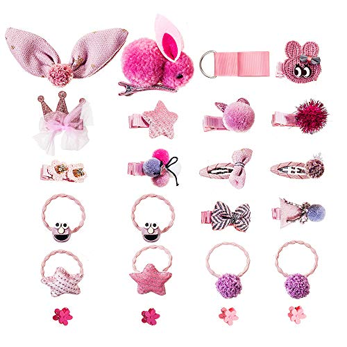 Hair Bows Ribbon Barrette Accessories Fabric Lined Clips Hairpin for Baby Little -