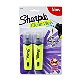 Sharpie Clear View Chisel Tip Highlighters, Yellow (1897843)