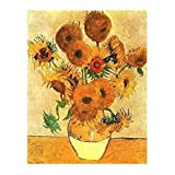Posters: Vincent Van Gogh Poster Art Print - Sunflowers (20 x 16 inches)