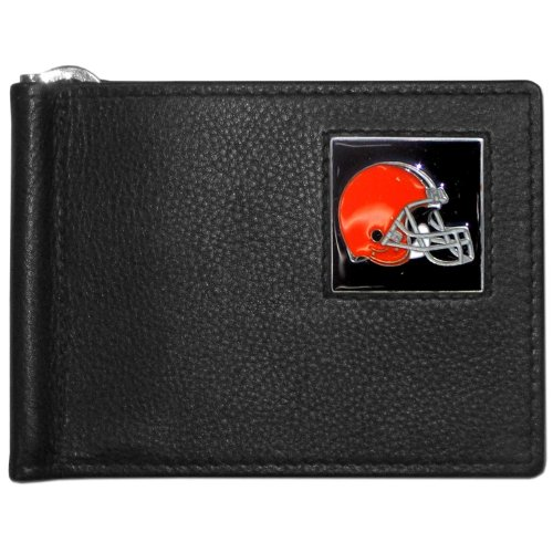 NFL Cleveland Browns Leather Bill Clip Wallet