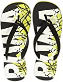 Puma Men's Pop Art II Puma Black and Sulphur Spring and Puma White Flip Flops Thong Sandals - 9 UK/India (43 EU)(36652701)