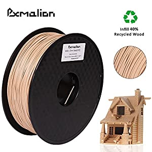 Pxmalion Wood 3D Filament, 1.75mm, Woody, Net Weight 1KG(2.2LB), Compatible with most 3D Printers by eTranslab Inc.