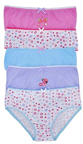 Lora Dora Girls 5 Pack Pares Calzoncillos Set Braguitas Infantil Multipack 100% Ropa Interior de Algodón Talla UK 2-13 Años: Amazon.es: Ropa y accesorios