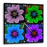 3dRose LLC Cosmos Flower Collage Wall Clock, 10 by 10-Inch