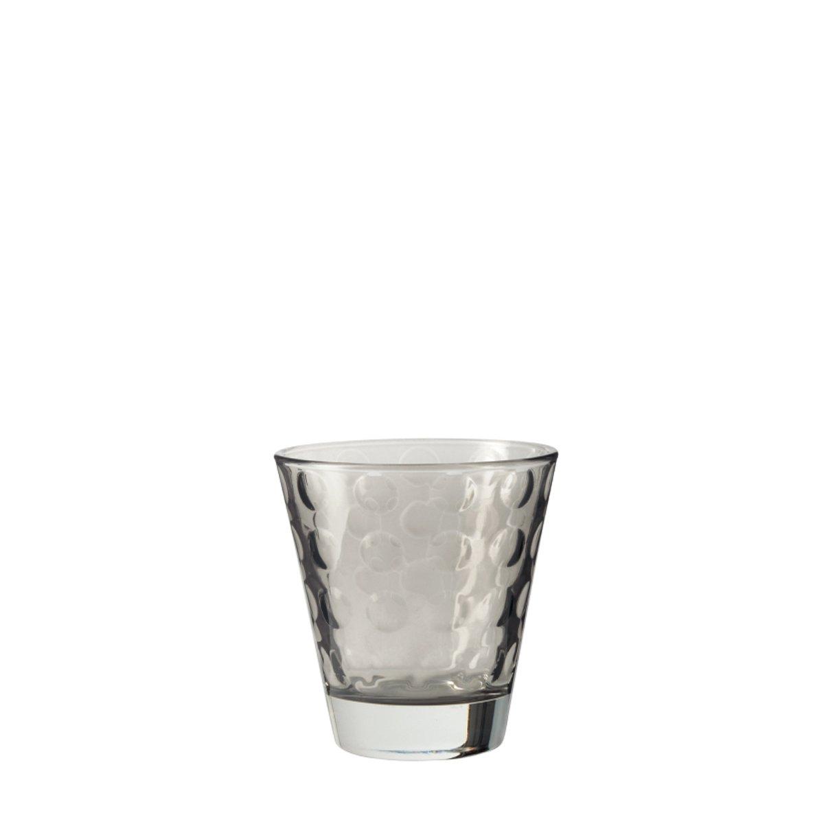 Leonardo 017993/Optic Lot de 6/Petit Gobelet Basalto 8,5/x 8,5/x 9/cm 6/unit/és Gris Verre