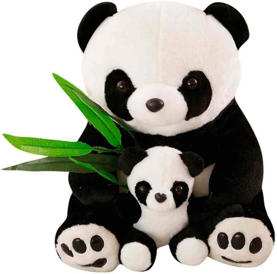 heacker Sentado Felpa Madre y del bebé Hoja de bambú Juguetes Amante Regalo de los niños del Regalo de la muñeca de los Animales Rellenos