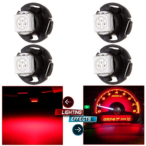 cciyu T4.7 Neo Wedge LED Light A/C Climate Control Lights12mm Bright T5 with1.25