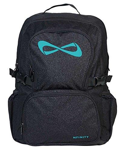 Nfinity Backpack, Sparkle Black/Teal -