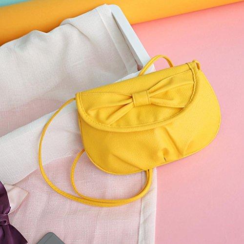 """Fulltime (TM) mujeres bolso bolsa de hombro Cruz Cuerpo bolsos Tote señoras del monedero, Infantil mujer, azul, 23*16cm/9.1*6.3"""" amarillo"""