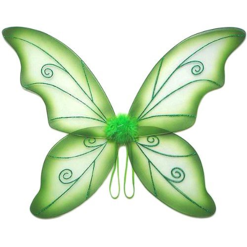 Womens Wild Fairy Wings (Green, One