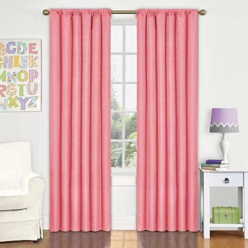 Eclipse 10707042X084CRL Kendall 42 Inch By 84 Inch Thermaback Room  Darkening Single Panel, Coral. By Eclipse Curtains