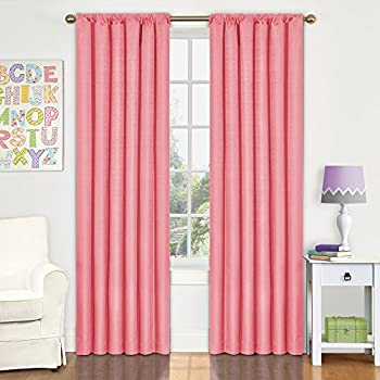 Amazoncom Eclipse XCRL Kendall Inch By Inch - Coral colored curtain panels