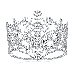 Round Snowflake Pageant Costume Crown