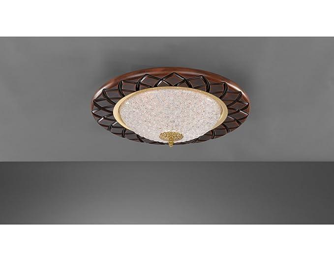 Plafoniere Con Lampadina A Vista : La lampada incisa tonda plafoniera a soffitto classica