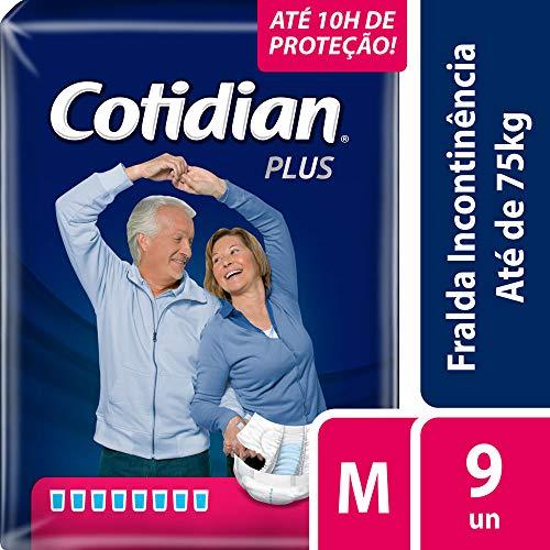 Fralda Adulto Cotidian Plus M com 9 Unids, Cotidian, Azul Escuro, Média