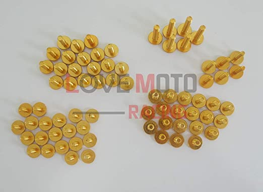 pour YZF 1000 R1 04 05 06 YZF1000 R1 2004 2005 2006 Agrafes de fixation pour vis alu Noir Argent LoveMoto Jeux de visserie complets pour car/énages moto