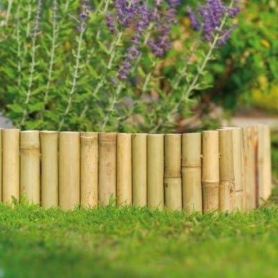 Valla de bambú para jardín (6m x 15cm): Amazon.es: Jardín