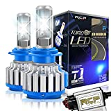 RCP H7 LED Headlight CREE Bulbs Conversion Kits with Canbus, 70W 7200Lm 6000K White, 2 Years Warranty