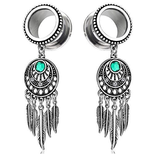 0 gauge plugs dream catcher - 9