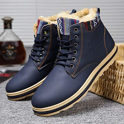 Blue Hombre Grueso Punto De La Zapatos Cálidas Algodón Alto Botas Shukun Hombres Y Cortas Martin Los Para Nieve Invierno Casuales HqfgBZ