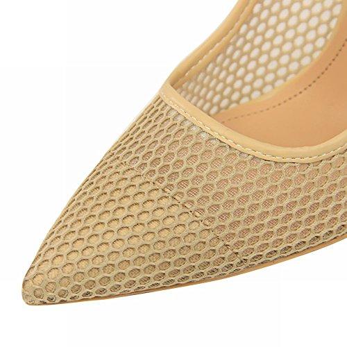 Zapatillas corte tacón albaricoque de Chic Mee y alto con mujer zapatos para rXrfvqZF