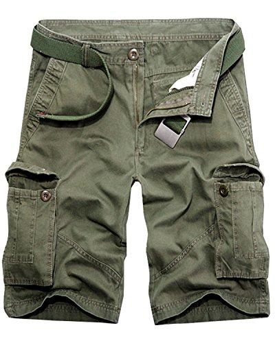 Men's Casual Multi-Pocket Cargo Shorts, Summer Cotton Outdoor Wear Dungarees