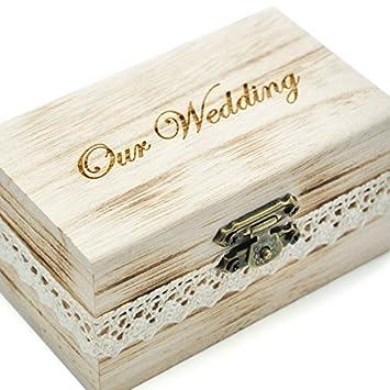Rustikal Hochzeit Ring Box Ring Der Trager Holz Jewelry Box Aus