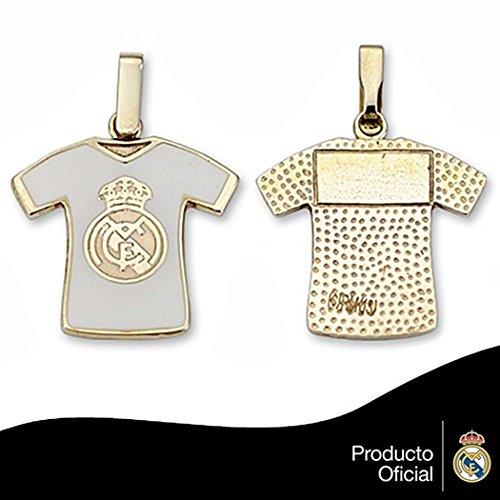 Pendentif en or Real Madrid loi 9k shirt bouclier émail [6489] - Modèle: 0530-129
