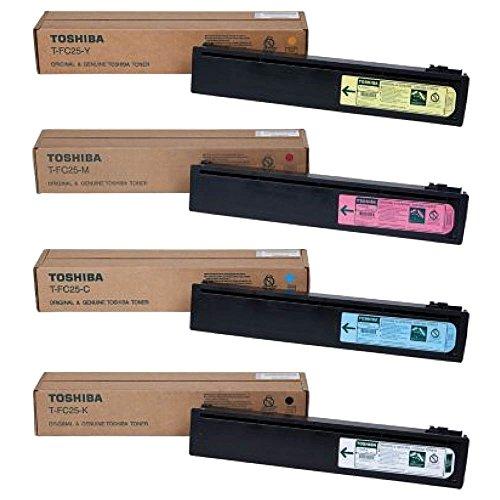 Toshiba TFC25K, TFC25C, TFC25M, TFC25Y Standard Yield Toner Cartridge Set (Toshiba Pack)