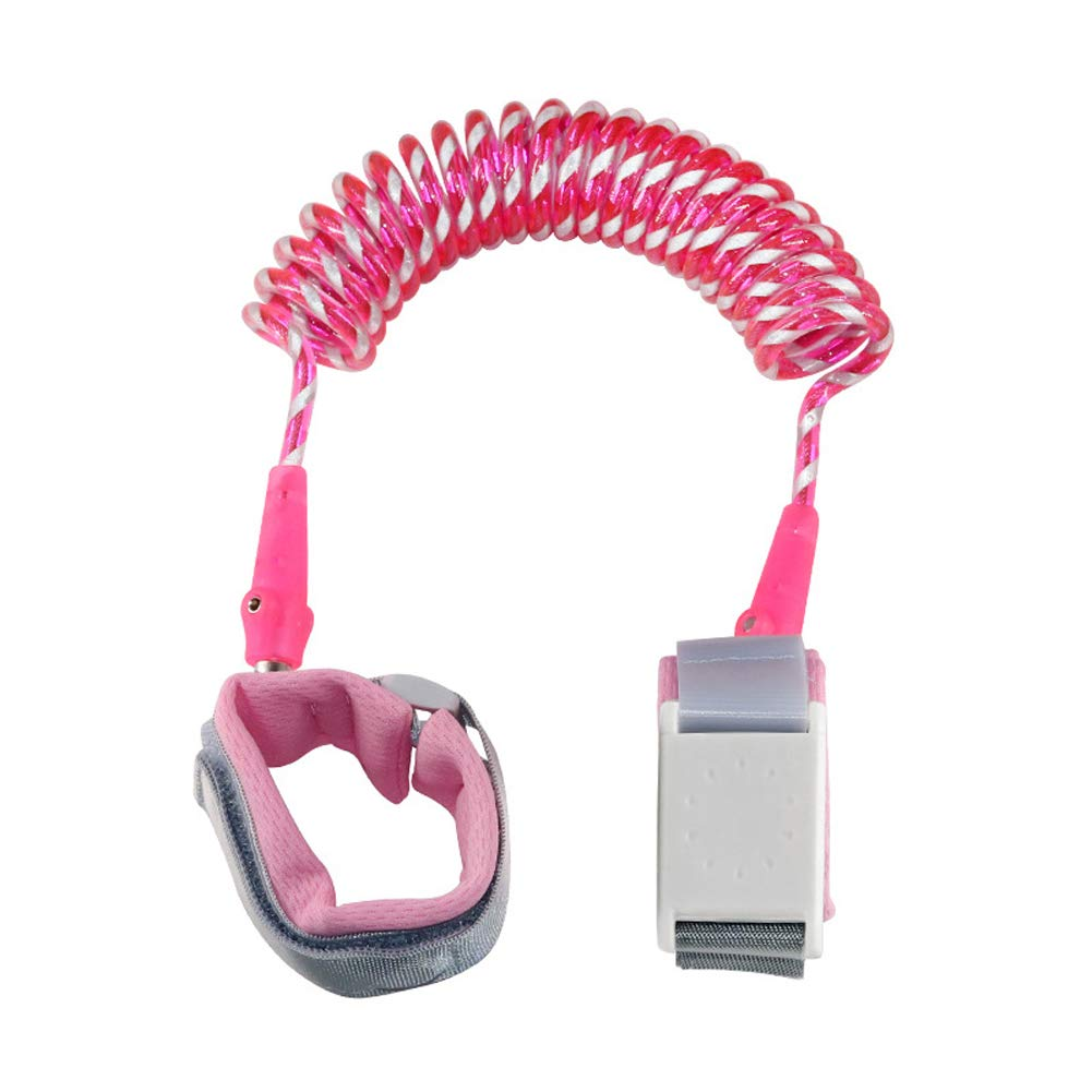 MQC Anti-Lost Rope Baby Anti-Lost Magnetic Lock with Child Anti-Lost Backpack Traction Rope,Pink,2m
