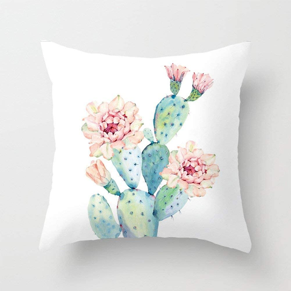 Amazon Com Aremazing Cactus Pillow Covers Super Soft Summer Green Succulent Plant Prickly Pear Flower Decorative Throw Pillow Case Cushion Cover 18 X 18 Inch Home Sofa Bedding Decor Cactus Flower Home