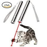 Bascolor Cat Toys Interactive Focused Light Cats Teaser Wand Toys 2 Pack