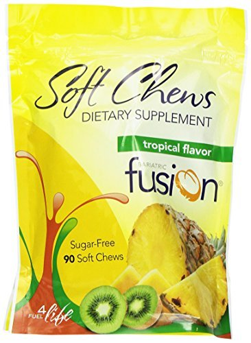 Bariatric Fusion Dietary Supplement Soft Chews Tropical 90 Count by Bariatric Fusion