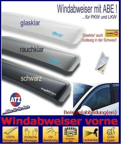 Farbausf/ührung: schwarz ClimAir Windabweiser vorne 03-3782D mit ABE