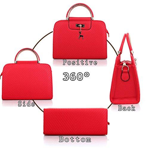 Mujer Red De Para Rojo Bolso Azul Marino G averil Asas wSZBBq