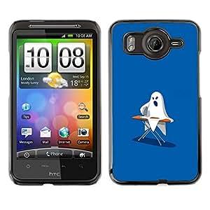 // PHONE CASE GIFT // Duro Estuche protector PC Cáscara Plástico Carcasa Funda Hard Protective Case for HTC G10 / Ghost Ironing - Funny /