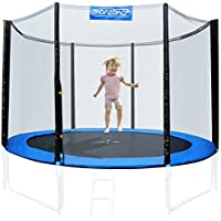 Filet de sécurité pour trampoline - Réseau dense entrée fermable - Ø 244 cm