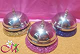 Glitter Office Desk Service Bell, Set of 1, (Your Choice of Color)