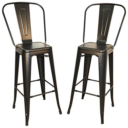 Carolina Chair & Table 1TH1001-30F RPW Monaco 30-Inch Bar Set of 2 Stool, Rustic Pewter